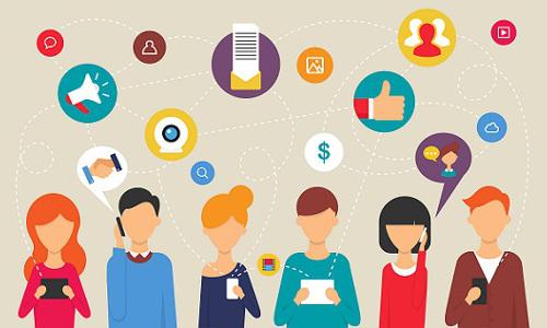 social media users, illustration